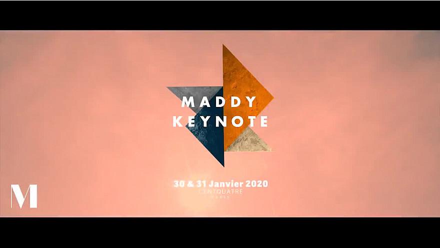 Maddy Keynote édition 2020 les 30 & 31 janvier au @104paris @MaddyKeynote